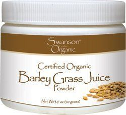 Barley Grass Juice Powder 3.17 oz (90 grams) Pwdr by Swanson Organic by Swanson Organic. $9.69. Natural source of vitamins, minerals, amino acids and more. Mix with cool water or juice. USDA Certified Organic. One of the first superfoods to gain popularity, barley grass claims millions of enthusiasts around the world. Swanson Organic Barley Grass Juice Powder is a natural source of vitamins, minerals, amino acids, chlorophyll and more. This unique formula is made ...