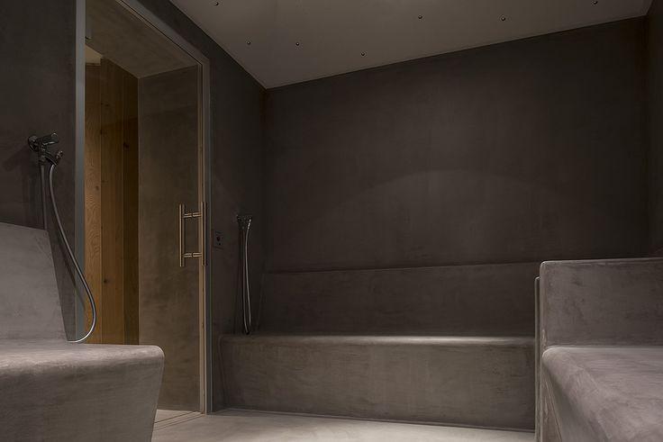 Chi viene in montagna a rilassarsi in questa stupenda SPA? Noi sì, ma solo se ci sono i rivestimenti in #Microtopping! #NeuePost #hotel #wellness
