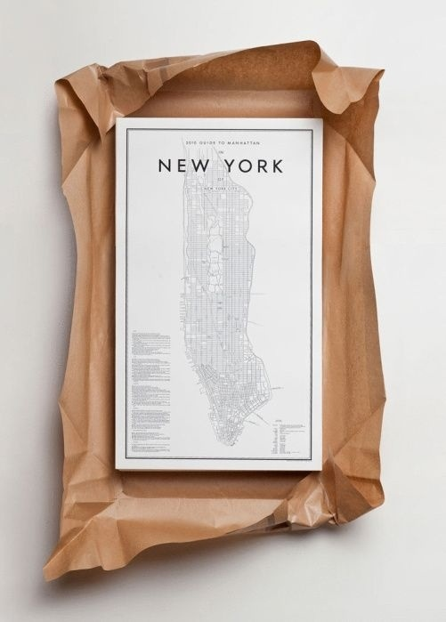 NYC map lithograph