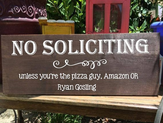 Wood Sign No Soliciting Sign Funny Wood Sign by AveryAnnBoutique