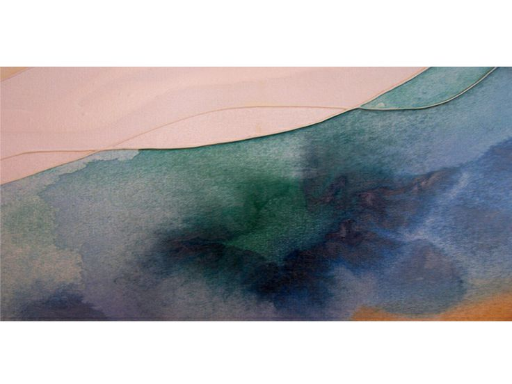 Calm blue water in modern abstract art