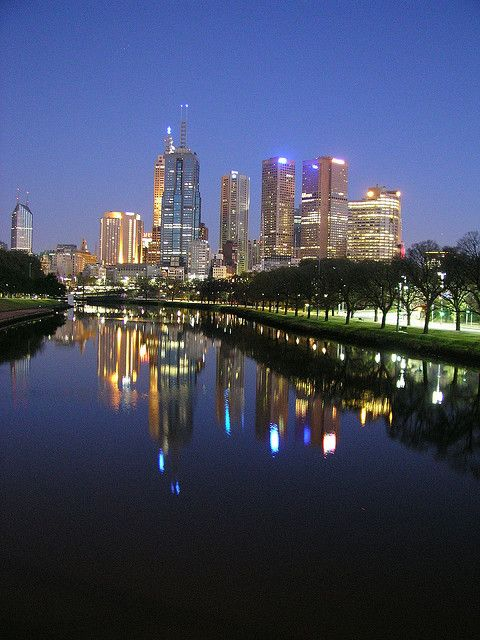 Melbourne at night, Australia.