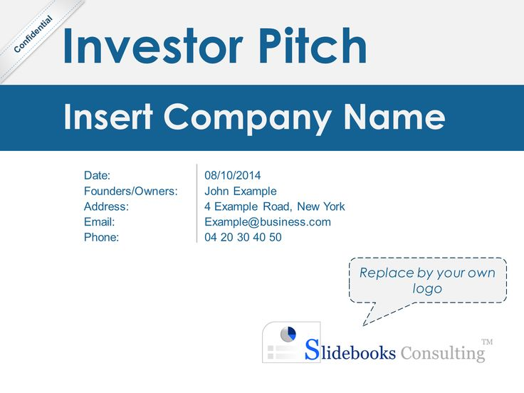14 best Investor Pitch Deck Template By ex-McKinsey Consultants - elevator pitch template