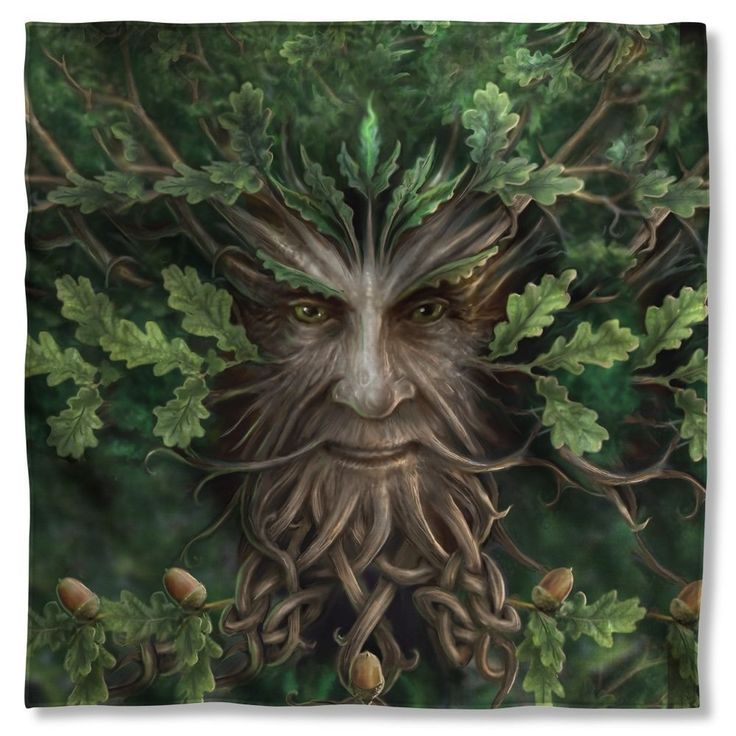 Anne Stokes - Oak King Bandana