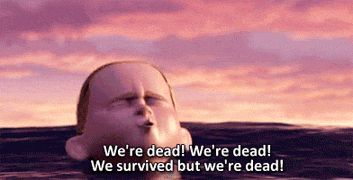 The Incredibles - We're dead! We're dead! We survived but we're dead!