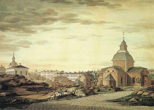 C. L. Engel: Helsingin keskusta (ca. 1816).