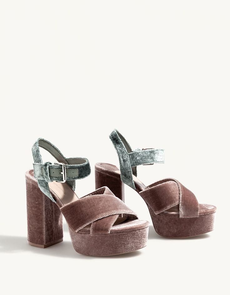 At Stradivarius you'll find 1 Velvet platform sandals for just 229 United Arabian Emirates . Visit now to discover this and more All.