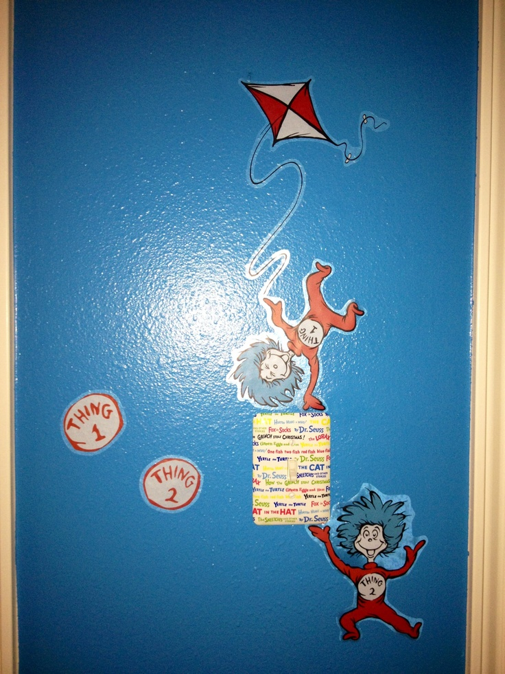 Dr seuss nursery decals from target luke pinterest for Dr seuss nursery mural