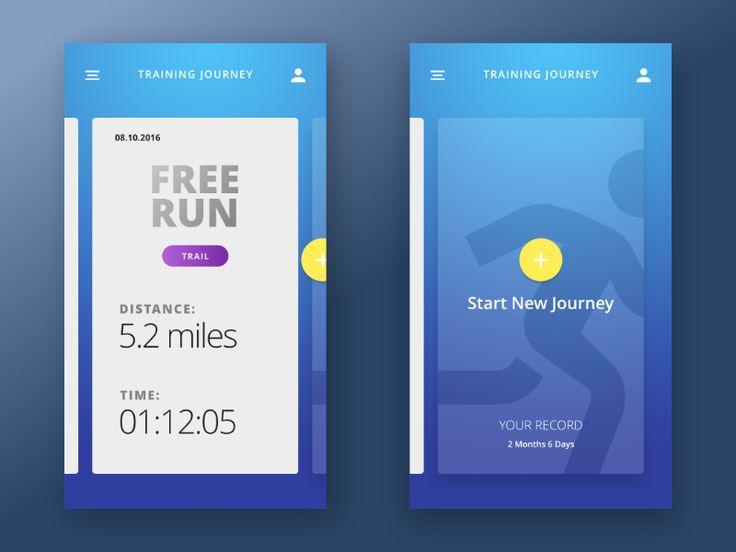 Special Running App by Mark Curchin #Design Popular #Dribbble #shots