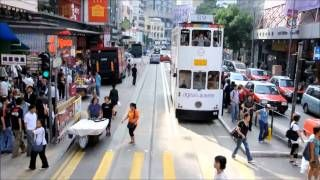 Doppelstock-Tramway in Hongkong