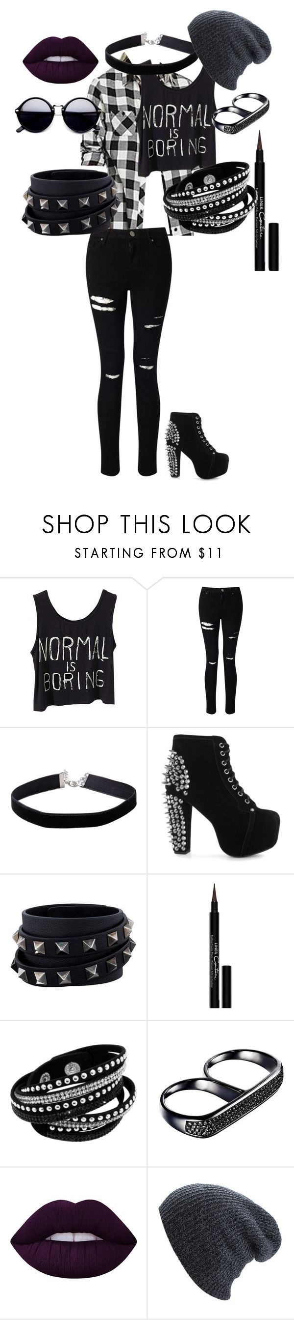 """back to school goth"" by styleseverything on Polyvore featuring Miss Selfridge, Jeffrey Campbell, Valentino, Givenchy, AS29, Lime Crime, BackToSchool and goth"