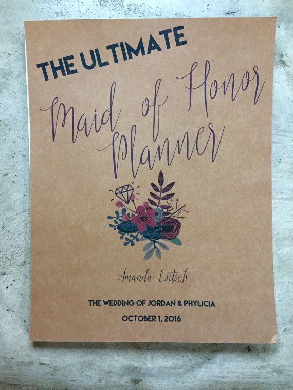 Maid of Honor Planner by PhillyFancies on Etsy