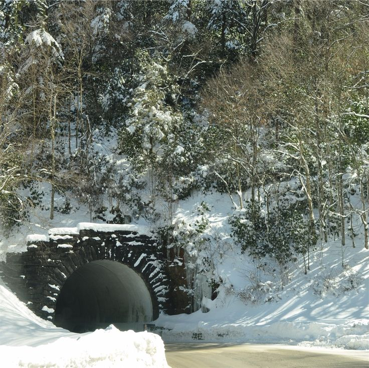 The tunnel between Pigeon Forge and Gatlinburg