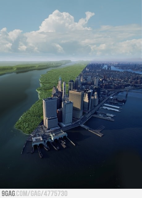 Manhattan: 1612 and 2012: New York Cities, Favorite Places, Mannahatta Projects, Years Ago, Manhattan 2012, 400 Years, Newyork, Photo, Manhattan 1612