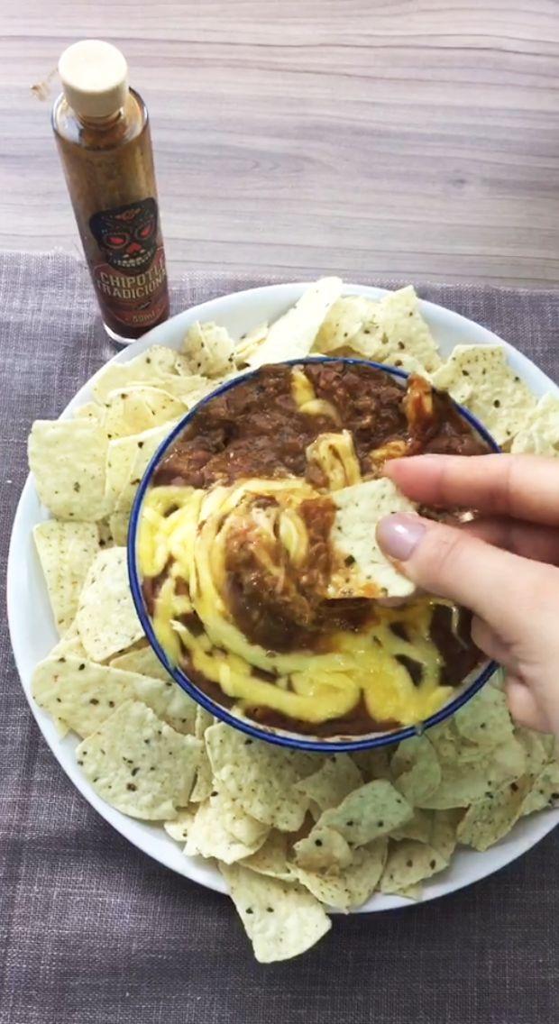Chilli mexicano com MUUUUUITO QUEIJO e muita pimenta defumada!
