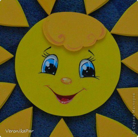 Солнышко из потолочных плит фото 2