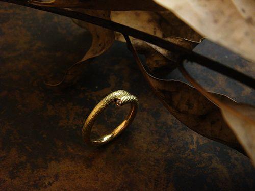 [Ancient Delusion : 011] Ring-K18YG/Diamond 0.03ct