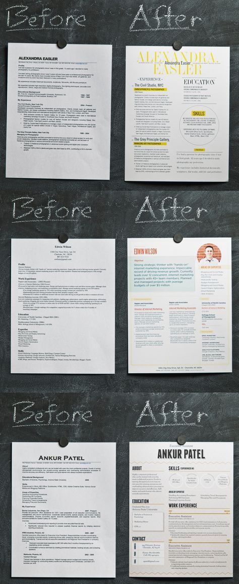 Aesthetically much better but I wonder what employers truly think of them...A good design makes a HUGE difference. Here are some tips to make your resume stand out.