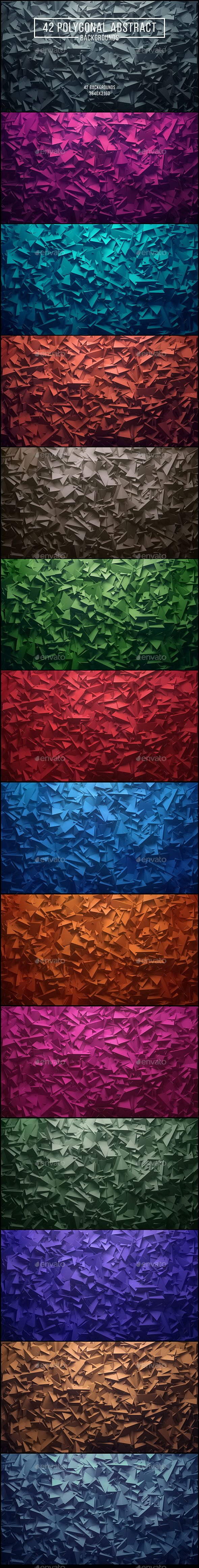 42 Polygonal Abstract Backgrounds. Download here: http://graphicriver.net/item/42-polygonal-abstract-backgrounds/15077166?ref=ksioks
