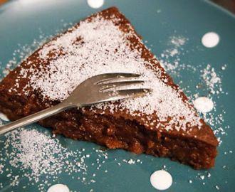 Chocolade puddingtaart (suikervrij en koolhydraatarm)