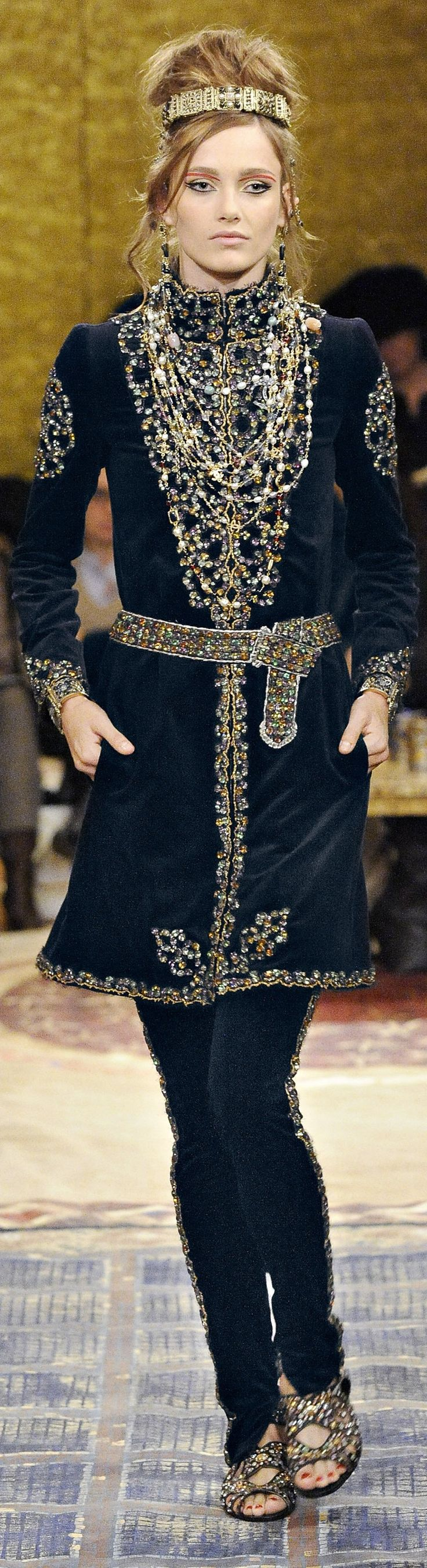Chanel pre fall 2011 Paris Byzance collection