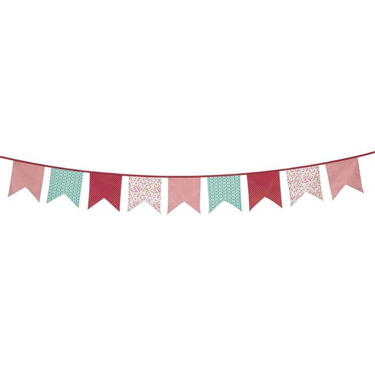 #AlineaPE2014  Fanion aux couleurs tendres en coton Rose - Tagada - Les objets de déco enfants - Décoration pour enfant - Toute la déco - Décoration d'intérieur - Alinéa