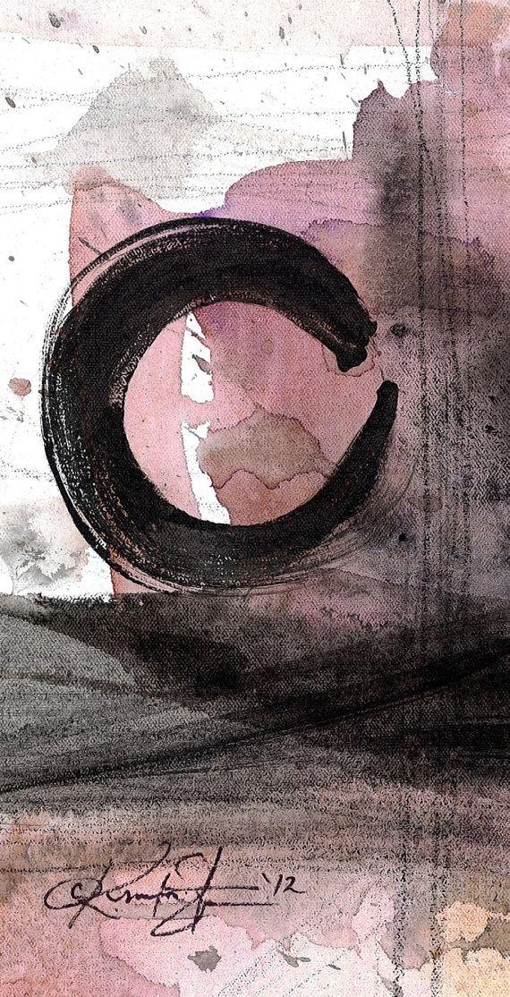 Original Enso Zen Painting Throw Pillows: Zen Images On Pinterest