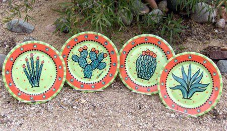 Tucson artist Chris Bubany's cactus plates