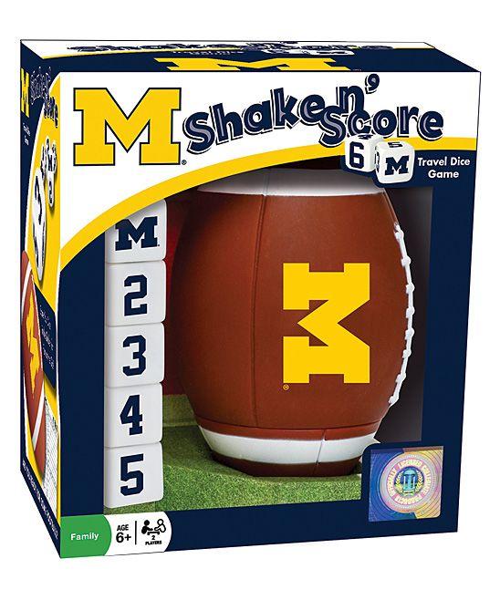 Michigan Wolverines Shake 'n' Score Dice Game