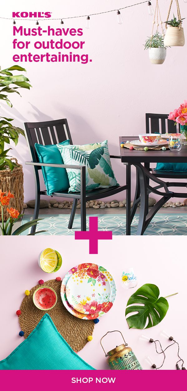 Find Patio Furniture And Decor At Kohl S Warmer Weather Means