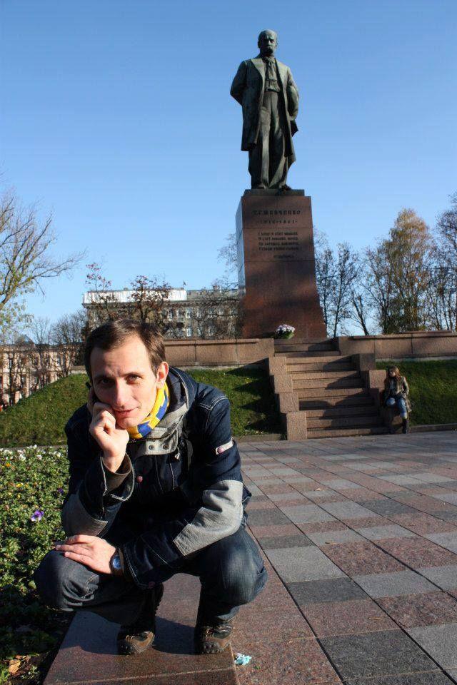 Serhii Shebelist near Shevchenko Park, Kyiv. Photo by Ivan Khatko.