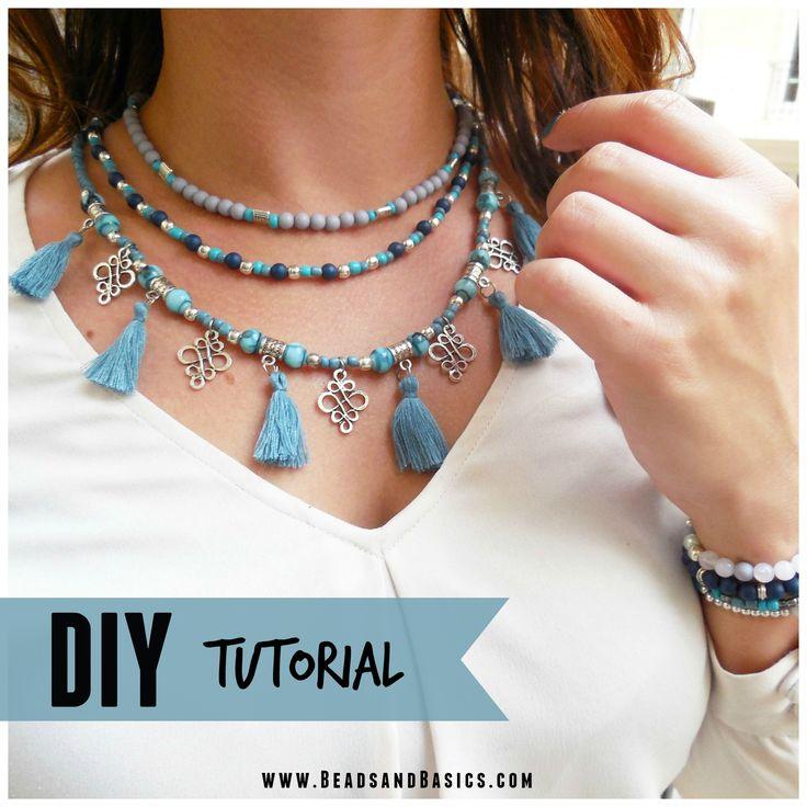 Blauwe Ketting Met Kwastjes DIY Turorial  - Online Kralen Kopen | Beads & Basics