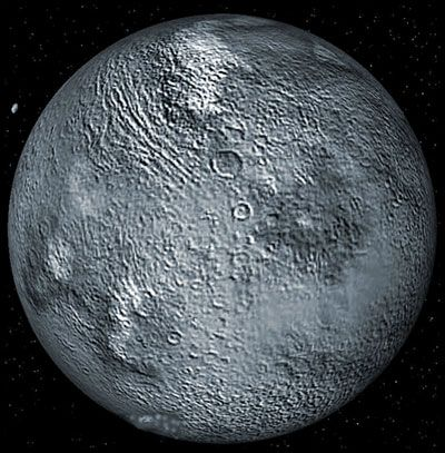 """Eris: Dwarf Planet- Eris orbits in the """"scattered disk"""" of the Kuiper belt, a region to which many of these objects have been expelled in highly inclined orbits, by a close encounter with Neptune."""