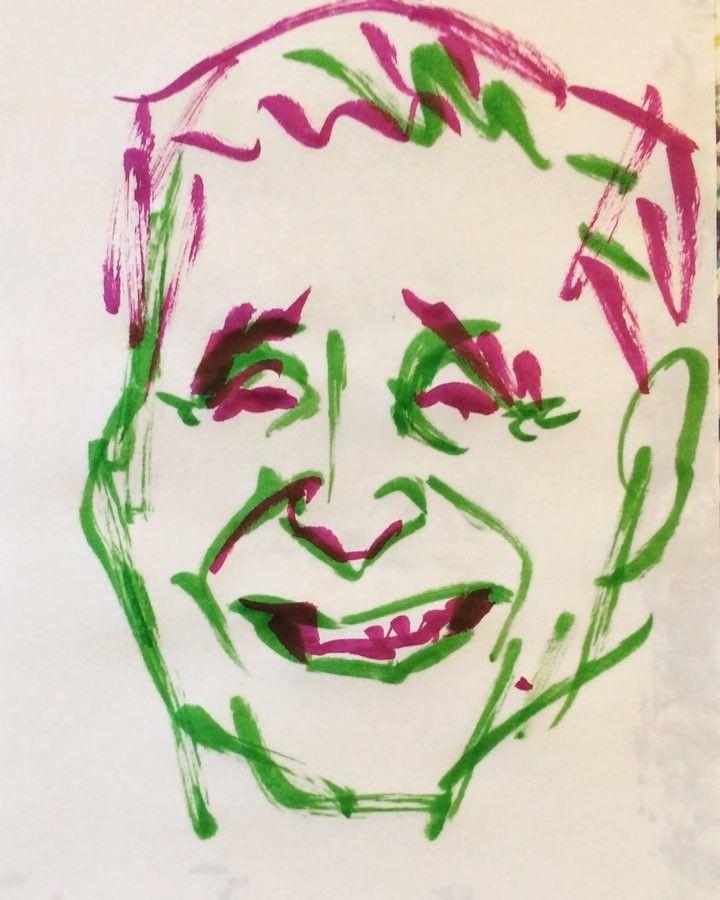 いいね!26件、コメント1件 ― @1mindrawのInstagramアカウント: 「#katsurabeichou #桂米朝 #三代目 #落語家 #上方落語 #人間国宝 #19251106 #birthday #1mindraw #一分描画 #誕生日 #portrait #似顔絵…」