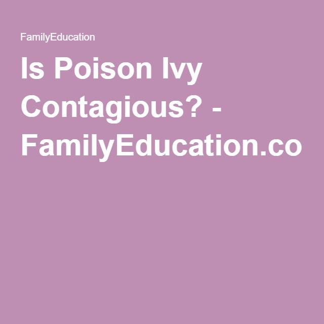 Is Poison Ivy Contagious? - FamilyEducation.com
