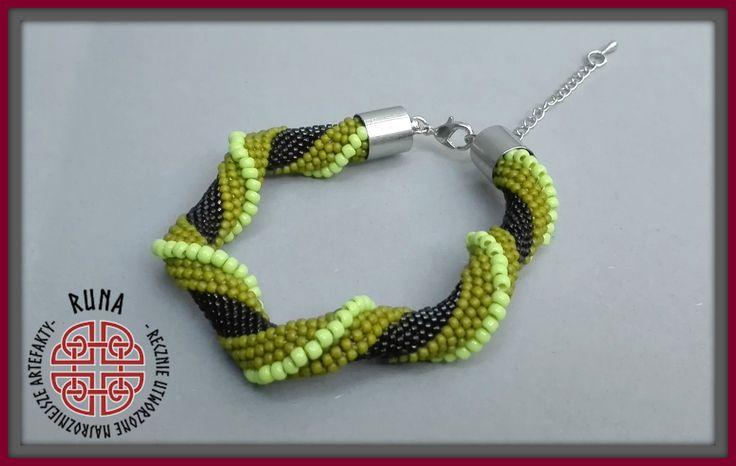 sznur szydełkowo-koralikowy, beading