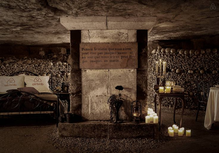 Halloween Night in Paris Catacombs - Get $25 credit with Airbnb if you sign up with this link http://www.airbnb.com/c/groberts22