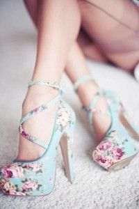 flowerbomb: Fashion, Style, High Heels, Floral Heels, Shoes Shoes, Flower, Floral Shoes