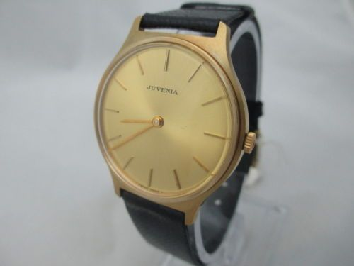 NOS-NEW-JUVENIA-SLIM-GOLD-PLATED-MEN-SWISS-WATCH-1960S