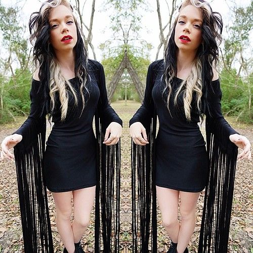 Grav3yardgirl hairstyles and outfits