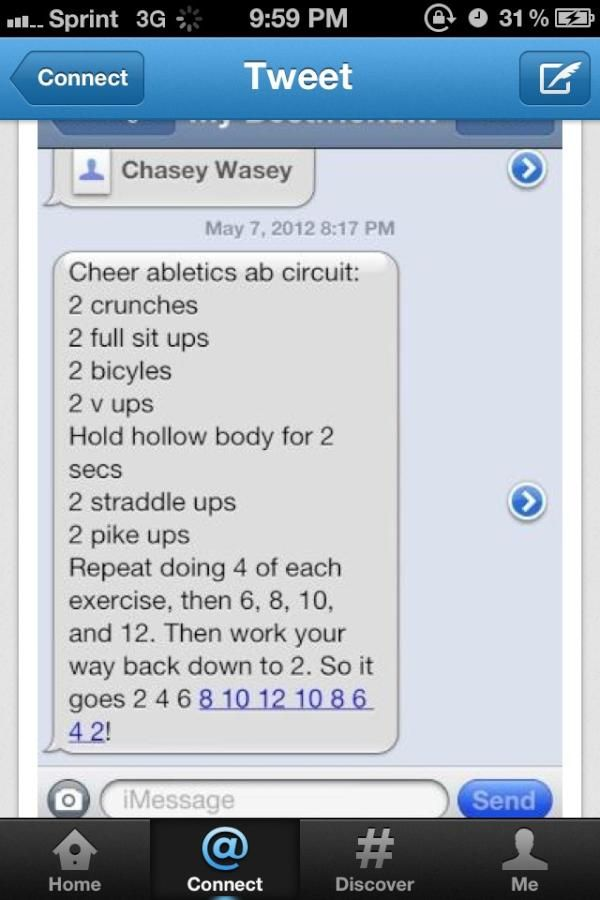Twitter / CAjamieandries: @sarakalgren the cheer able tics workout OFFICIAL