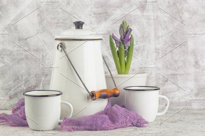 Vintage home arrangement, soft pastel colors. by Irrin0215 on @creativemarket