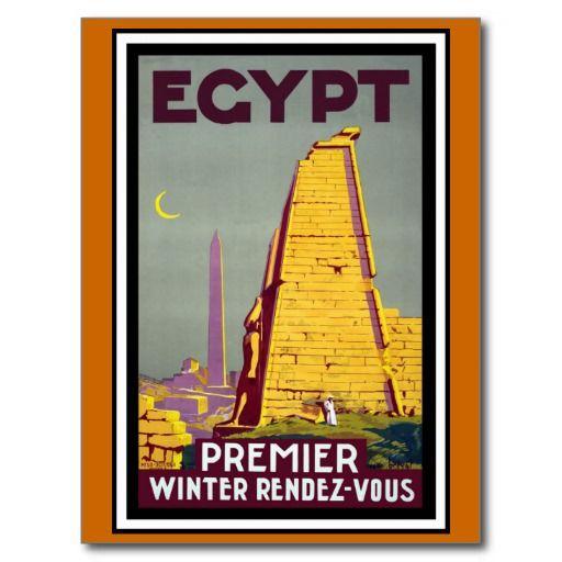 Voyage vintage de l'Egypte Carte Postale | Zazzle