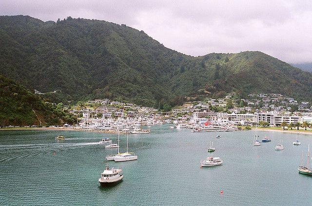 Picton - ferry runs from this cute port town to Wellington and connects the north and south islands!