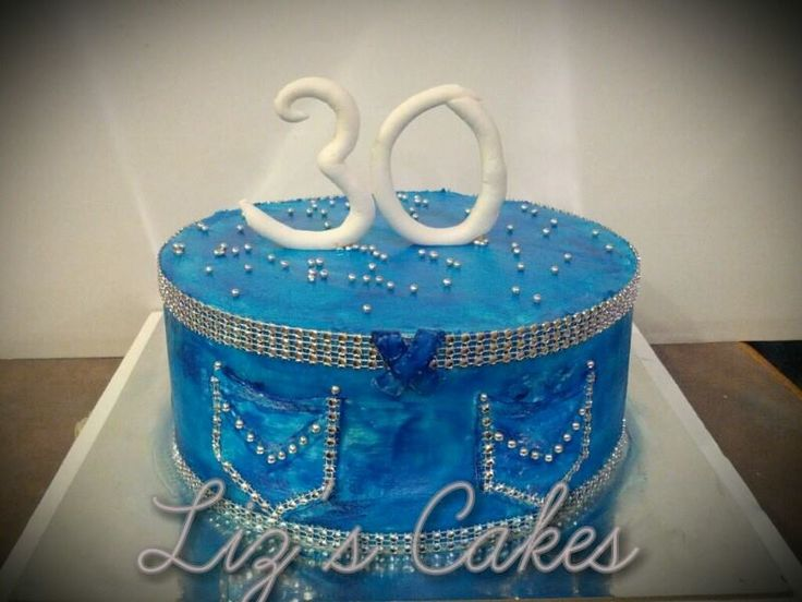 Denim And Diamonds Themed Birthday Cake Cakes Themed