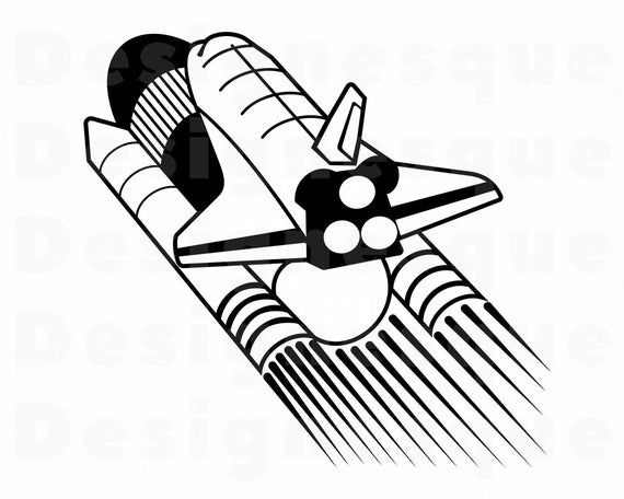 34+ Space shuttle rocket clipart info