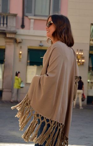The beautiful of our cape. Discover it on shop.marinafinzi.com #MadeinItaly #fallwinter2015 #accessories #marinafinzi