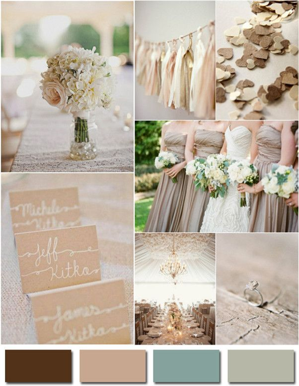 16 best Wedding Colors images on Pinterest Color palettes Decor
