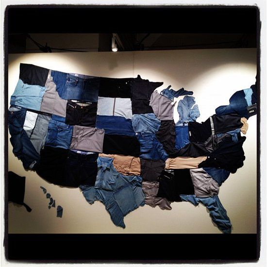 Gap's united states of denim display. so proud