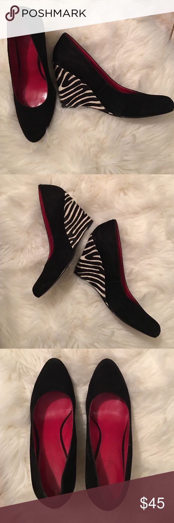 Nine West zebra heels red shoes Zebra heel Nine West black wedges Nine West Shoes Wedges